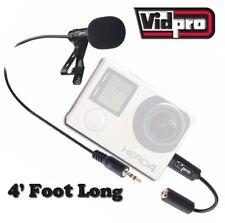 NEW Vidpro XM-G Wired Microphone For GoPro® Hero4,Hero3+, Hero3, Hero2 Cameras