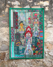 Gypsy Indian Decor Cotton Beaded Wall Hanging Table Mat Tapestry