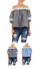 3/4 Arm Damenblusen, - tops & -shirts mit Carmen Spitze