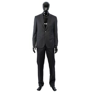 BRIONI 5700$ Charcoal Madison Suit From Super 170s Silk & Wool