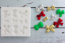 Silicone Mould Ribbon, Bows, Christmas, food safe, Ellam Sugarcraft M060