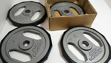 "(4) 5lb Marcy Grip Plates - Dumbell Barbell 1"" - You get 4 NEW?"
