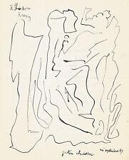 Gaston CHAISSAC. Dessin original signé + poème autographe sur Malraux 1959.