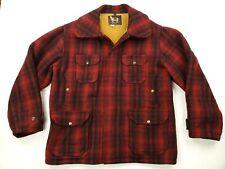 Woolrich Men's Buffalo Hunting Jacket Size Medium Buffalo Plaid Wool Coat USA