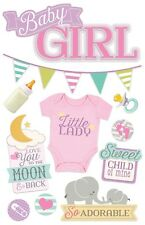 PAPER HOUSE BABY GIRL LITTLE LADY SWEET CHILD DIMENSIONAL 3D SCRAPBOOK STICKERS