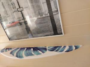 Half Surfboard Wall Shelf Bookshelf Wood Surfing Art Decor New Monstera