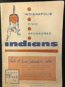 ROGER MARIS VERY RARE ORIGINAL 1956 INDIANAPOLIS INDIANS MINOR LEAGUE PROGRAM!!!