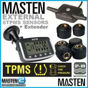 Masten Tyre Pressure Monitoring System LCD Weather Proof External Spare Sensors