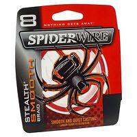 Spiderwire Superline Stealth Smooth 8 300m Red Braid Saltwater Fishing Line