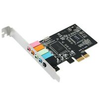PCIe Sound Card 5.1, PCI Express Surround 3D Audio Card for PC with High Dir N1Y