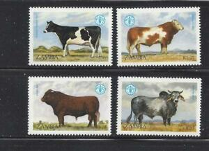 ZAMBIA - 418-421 & 440-443 - MN - 1987-1988 - WORLD FOOD DAY & UN CHILD SURVIVAL