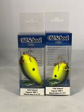Old School Baits Square Bill 1 and Square Bill 2 Black/Chartreuse Minnow Bait