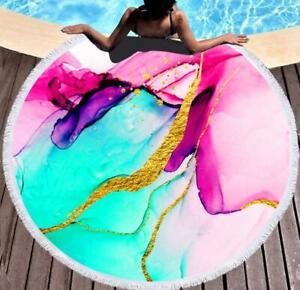 3D Pink Blue ZHUB307 Summer Plush Fleece Blanket Picnic Beach Towel Zoe
