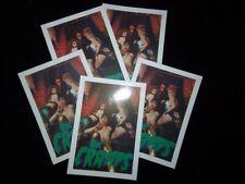THE CRAMPS promo postcards x5 - psychobilly rockabilly punk