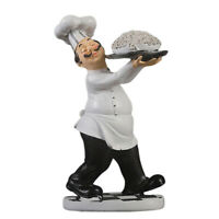 Cook Figurines Kitchen Decor Chef Staute Ornaments Counter Top Collectible