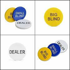 3pcs Small Blind, Big And Dealer Poker Buttons Sports &amp Outdoors Markers Game