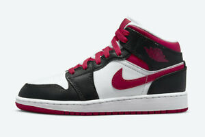Nike Air Jordan 1 Retro Mid GS Very Berry Pink Red Black White 554725-016 Women