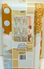 """Peva Vinyl Shower Curtain Abby 71 x 74"""" Multi-Colored Frosted"""