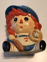 VINTAGE Rubens Original Blue Raggedy Ann Planter, Baby Shower, Nursery, Baseball