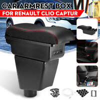 Console Armrest Center Storage Box Cushion W/ USB Port For Renault Clio Captur