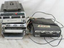 3 Vintage 8 Eight Track Cassette Car Stereo Radio Lot Ar Tenna M 8804 Marquis