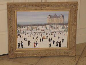 "FANCH LEDAN Original Oil Painting Canvas 18""x24"" Signed New York City"