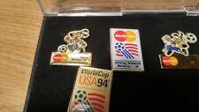 WORLD CUP Soccer 1994 Pin Set - USA Pin, VTG - 7 PC SET,  FREE SHIP!