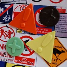 Road Sign Magnets for Notice Board, Photoboard or Fridge by T Squared