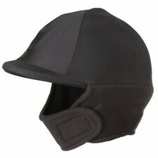 New Black Winter Lycra Helmet Cover w/Fleece Ear and Neck Cover