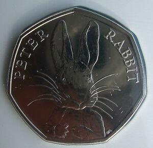 Peter Rabbit Beatrix Potter 150 Anniversary 2016 UK 50P Coin Presentation Pack