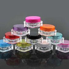 10X 5g Face Cream Lip Balm Container Cosmetic Empty Jar Eyeshadow Makeup Pots