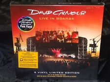 David Gilmour Live In Gdansk SEALED USA 1ST PRESS 2008 5 LP BOX W/ HYPE STICKERS