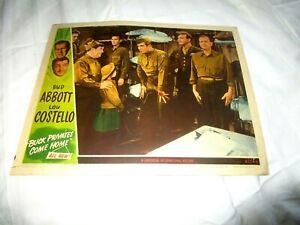 ABBOTT AND COSTELLO BUCK PRIVATES COME HOME, , ORIGINAL LOBBY #2 1947, RACING