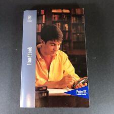 1999 Palm IIIc Organizer Handbook Instruction Manual PDA P/N 405-1243-01A
