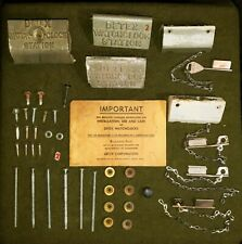 Lot Of Vintage Detex Watchclock Station Keys & Chains, Misc Other Parts
