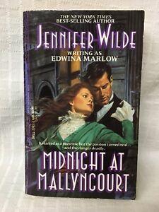 HTF 1992 PB Midnight At Mallyncourt Jennifer Wilde Edwina Marlow Dell Gothic vtg