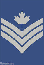 "5"" CANADA AIR FORCE SERGEANT HELMET BUMPER DECAL STICKER MADE IN USA"