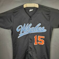 Vintage Long Island Whalers Rawlings AUTHENTIC Baseball Jersey Sz M #15 RARE!!!