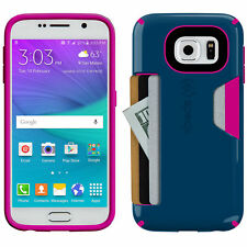 Speck CandyShell Card Wallet Case For Samsung Galaxy S6 Blue Pink Cover Bumper