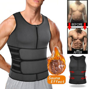 Fajas Reductoras Abdomen Para Hombre Sudar Perder Peso Vest Shaper Waist Trainer