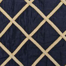 Oro Diamante Patchwork Cuadrados Negro Vestido Tafetán tapicería tejido de mobiliario