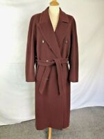 MULBERRY - UK16 - Stunning Vintage Plum Coloured Wool and Cashmere Blend Coat