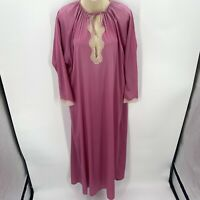 VTG Tom Bezduda For Barad & Co Nylon Lace Nightgown Women's Small Purple Long