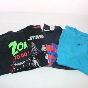 Bundle of 4 Boy's Large 10-12 Short Sleeve T-Shirts