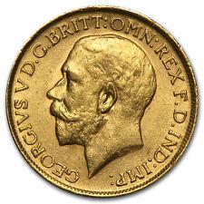 1911-1925 Great Britain Gold Sovereign George V AU - SKU #31523