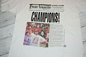 GREEN BAY Packers SUPER BOWL Champions '97 Press-Gazette Tee Shirt Reggie White