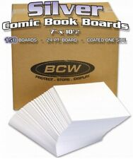 150 BCW Silver Age Comic Book Acid Free Backing Boards - White Back Boards