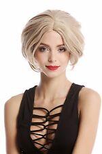 perruque Pour Femme Raie au milieu court volumineux perruque lisse Blond Mix