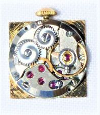 Vintage Yema France French 17 Jewels Watch Movement 14mm w Dial Runs Keeps Time