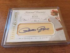 2015 Panini National Treasures Pete Rose #2 Leather & Lumber Auto #D 5/5 Rare!!